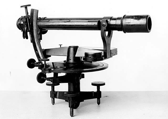This unusual instrument is probably best described as a precise level with a graduated horizontal circle